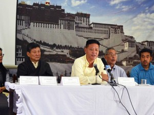 Speakers at the event held in Dharamshala Photo: Phayul/Kunsang Gashon