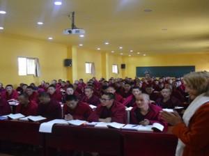 US Democratic leader Nancy Pelosi's meeting with monks of Sera monastery in Lhasa, Tibet Photo: Nancy Pelosi's Facebook