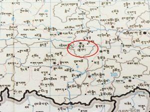 Map showing Lhaze
