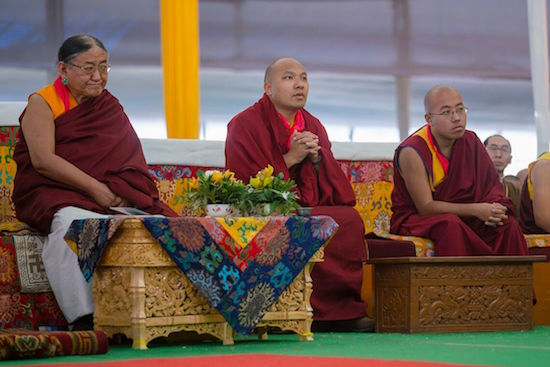 Sakya Trizin, Gyalwang Karmapa and Taklung Shabdrung during