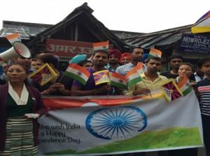 The celebration in McLeod Ganj Photo: Contact/Rohini