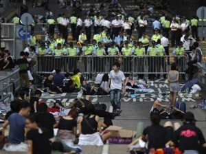 Many protesters slept on the streets Photo: Reuters