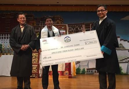 facebook office usa. Representative Kaydor Aukatsang Awarding His Prize To Jamyang Tashi Photo: Facebook/Tibet Office USA Facebook Usa