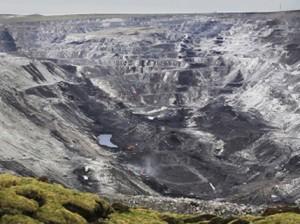 Coal mine in Amdo.  Photograph: Wu Haitao/Greenpeace