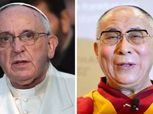 Pope Francis has not ruled out a meeting with the Dalai Lama  Photo: Getty Images