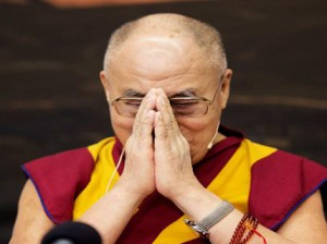 The Dalai Lama greeting audience at a conference in Copenhagen February 11, 2015. Photo: REUTERS/CLAUS BECH/SCANPIX