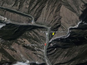 Site of the Lianghekou Dam currently under construction will be the highest embankment Dam in China
