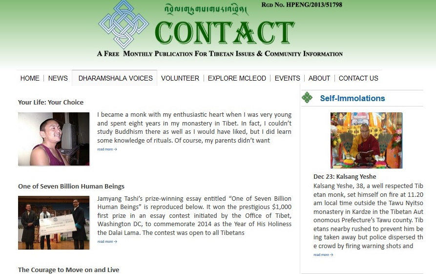 "A screenshot of Contact online ""people"" stories"