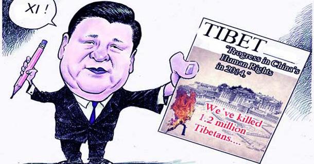 Xi-cartoon-Tibet-HR - Tibetan Magazine for Tibet News & Issues