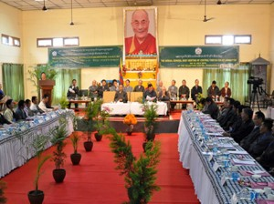 Tibetan settlement officers during their 10th general meeting at Dharamshala Photo: Tibettimes.net