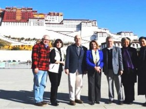 US Members of the Congressional Delegation in front of the Potala Palace in Lhasa, Tibet  Photo: Rep. McGovern's office