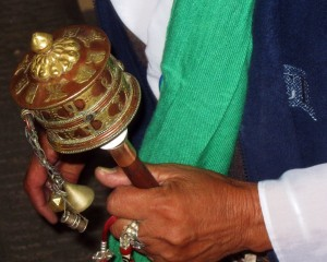 Tibetan woman with prayer wheel (Copy)