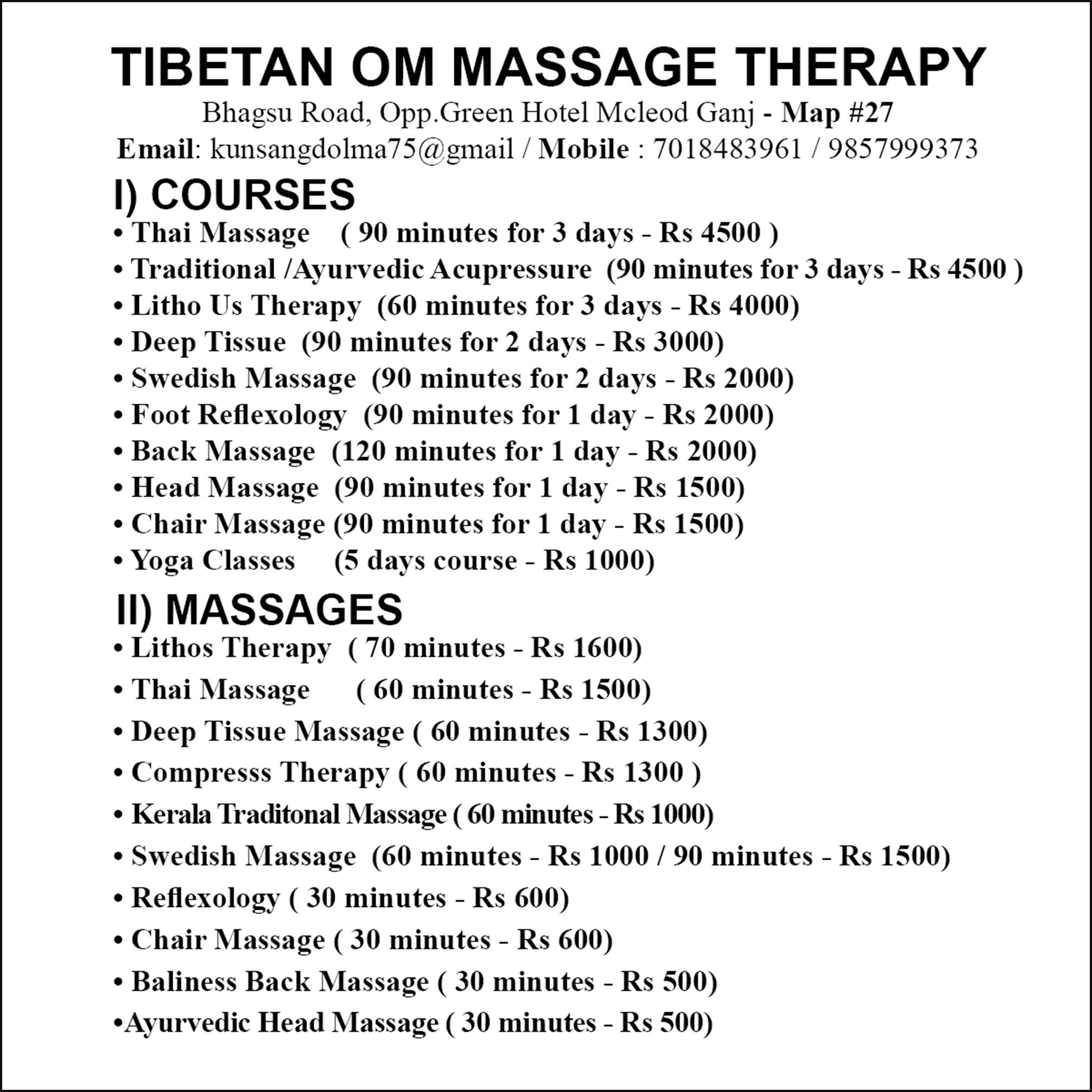 Tibetan Om Massage Therapy