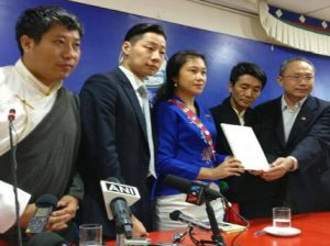 The members of HRNTT at the press conference on September 5,2016  Photo: Contact